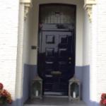 geschilderde voordeur pand